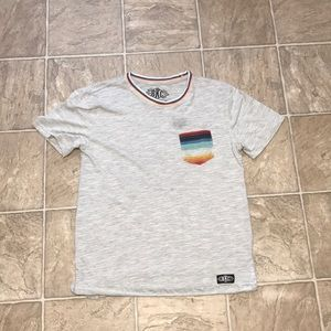 Grey Rainbow Trim Shirt